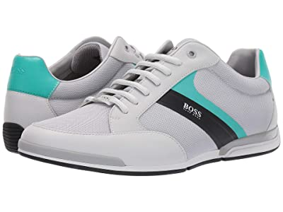 BOSS Hugo Boss Saturn Low Profile Leather Sneakers by BOSS (Pastal Grey) Men