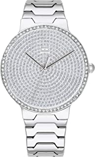 Tommy Hilfiger Women's Quartz Watch with Stainless Steel Strap, Silver, 18.5 (Model: 1781998)