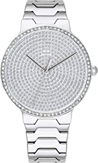 Women's Quartz Watch with Stainless Steel Strap, Silver, 18.5 (Model: 1781998)