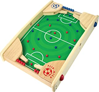 I'm Flipkick: Wooden Tabletop Football/Soccer Pinball Games, Indoor Portable Sport Table Board for Kids and Family