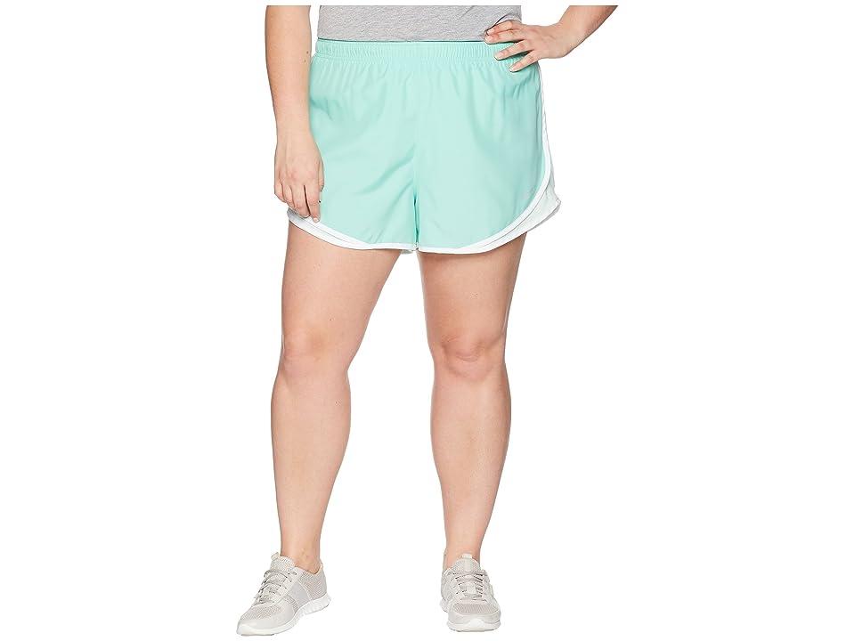 Nike Dry Tempo 3 Running Short (Size 1X-3X) (Emerald Rise/Igloo/Light Menta/Wolf Grey) Women