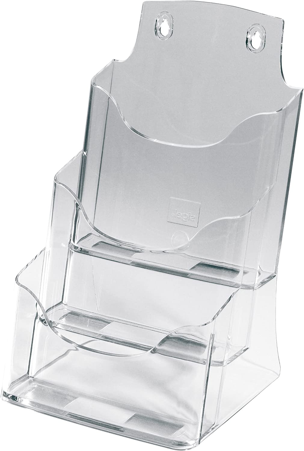 Sigel LH132 Table-Top Literature Holder Acrylic, with 3 compartments, Clear, for A5