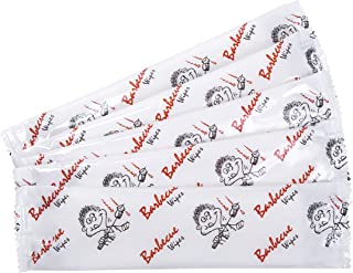 Pre-moistened BBQ and Grill Hand Wipes extra thick and large towel size (10 x 8