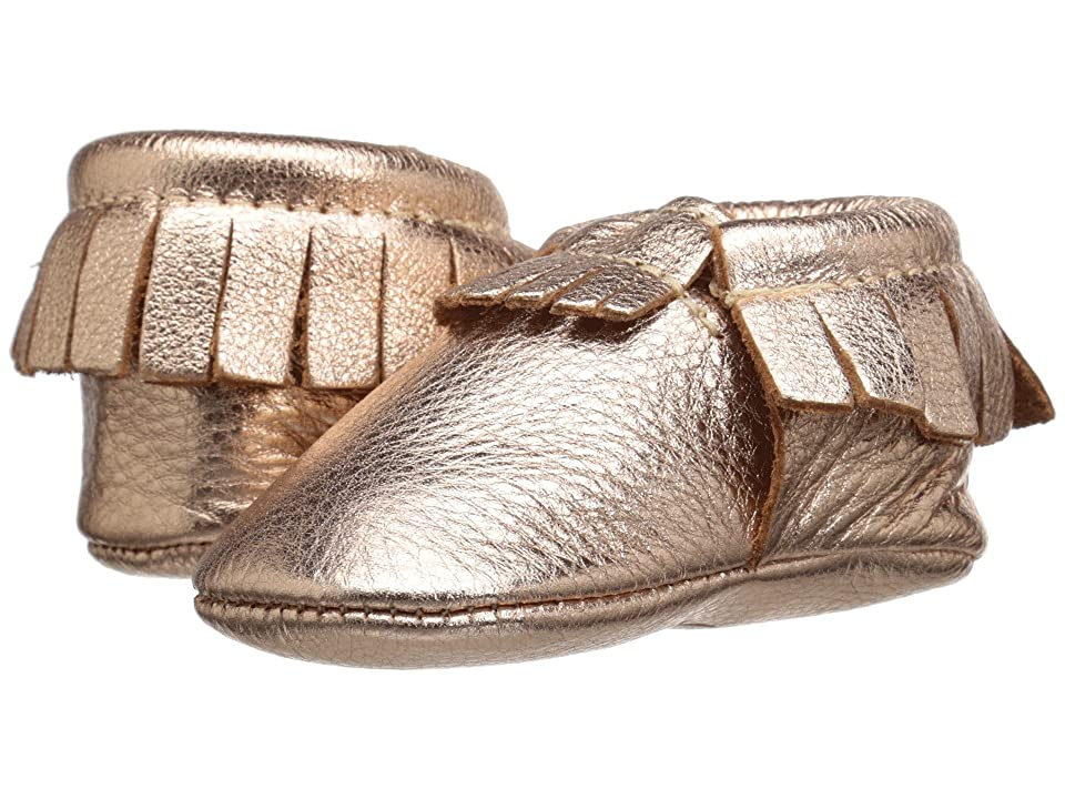 Freshly Picked Soft Sole Moccasins (Infant/Toddler) (Rose Gold) Girls Shoes