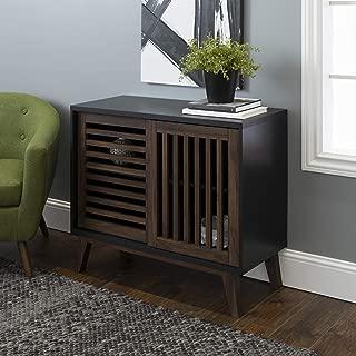 WE Furniture AZ36SSDSB TV Stand, 36