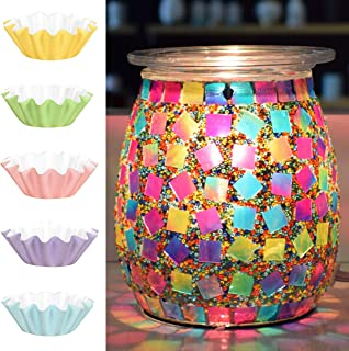 Flippin' Happy Mosaic Glass Electric Wax Melt Warmer – Scented Wax Burner and..