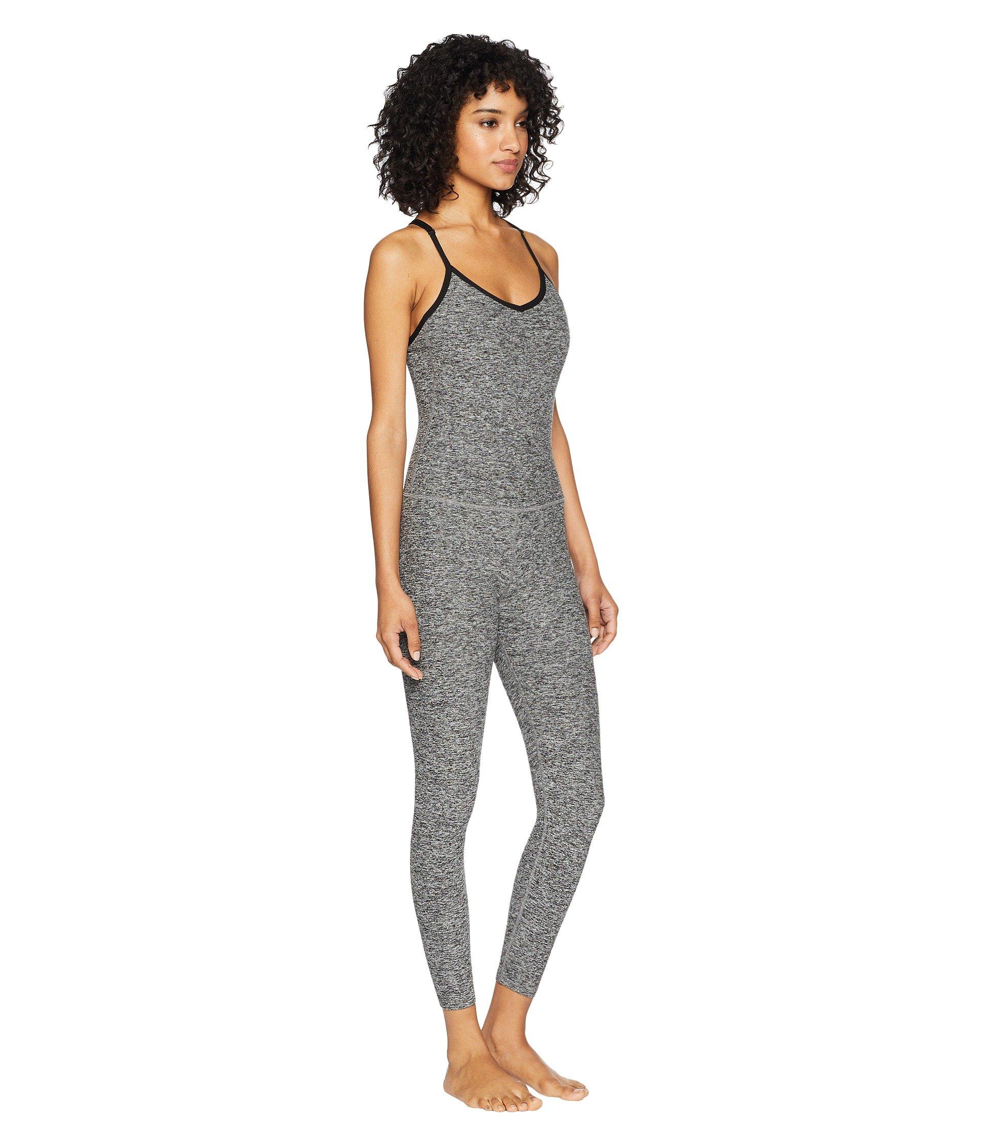 Yoga Black Spacedye Bodysuit Capris white Elevation Beyond 1xHgdUqH