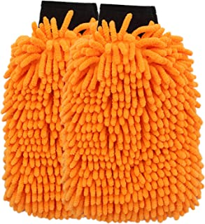 SCRUBIT 2 Pack Microfiber Premium Car wash mitt - Super Soft, lint Free Double Sided wash Mitts, and Scratch-Free Washing ...