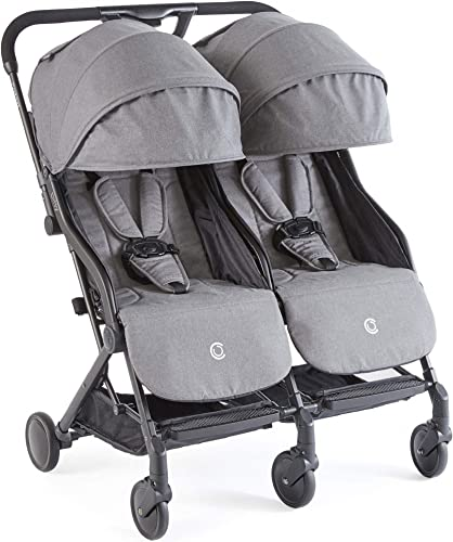 lowest Contours Bitsy Double discount popular Compact Fold Lightweight Travel Stroller, Granite Grey online