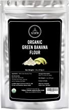 Naturevibe Botanicals Green Banana Flour (1lbs)- Plantain flour | Nutrition Rich | Helps Improve Digestion [Packaging may ...