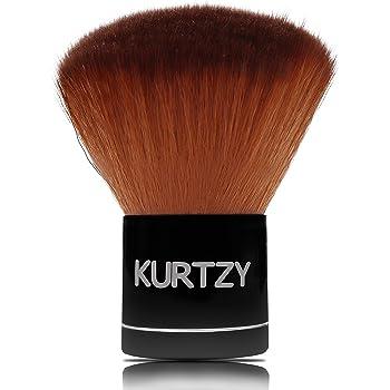 Kabuki Brush - 7cm Pennello Kabuki Professionale da Viaggio con fibre naturali che sintetiche - Pennello per trucco Per Make up, Fondotinta, cipria, Illuminante e Sfumare