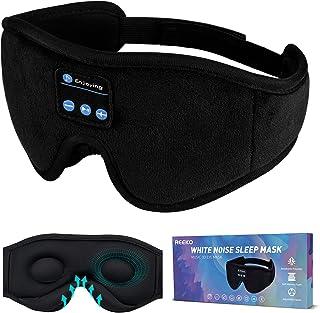 $28 » Sponsored Ad - REEKO Sleep Mask Bluetooth Headphones, White Noise 3D Contoured 100% Blackout Eye Mask, Cool Tech Gadgets,B...