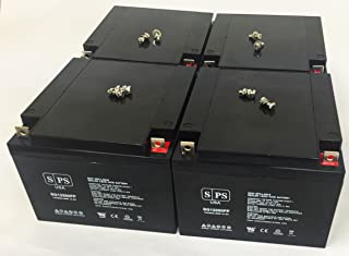 SPS Brand 12V 26Ah Replacement Battery for Lectronic Kaddy 2000 Motorcaddy & Golf Caddy (4 Pack)