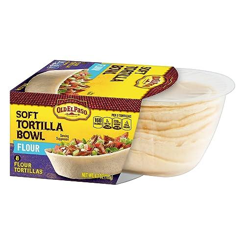 Old El Paso Soft Tortilla Bowl, Flour, 8 Count
