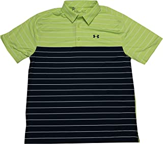 Under Armour Men's HeatGear Loose Fit Playoff Medal Short Sleeve Polo Shirt (Green, Large)