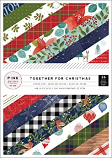 """American Crafts Pink Paislee Single-Sided Paper Pad 6""""X8"""" 36/Pkg-Together For Christmas, 18 Designs/2 Ea"""
