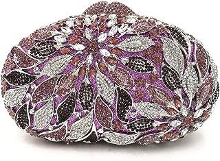Honana Party Bags for Women Lady Rhinestone Dinner Bag Lady Handmade Bags Elegant Banquet Clutch Bag Shoulder Chain Bag Dress Hard Shell Gift Cosmetic Bag Women's Fashion