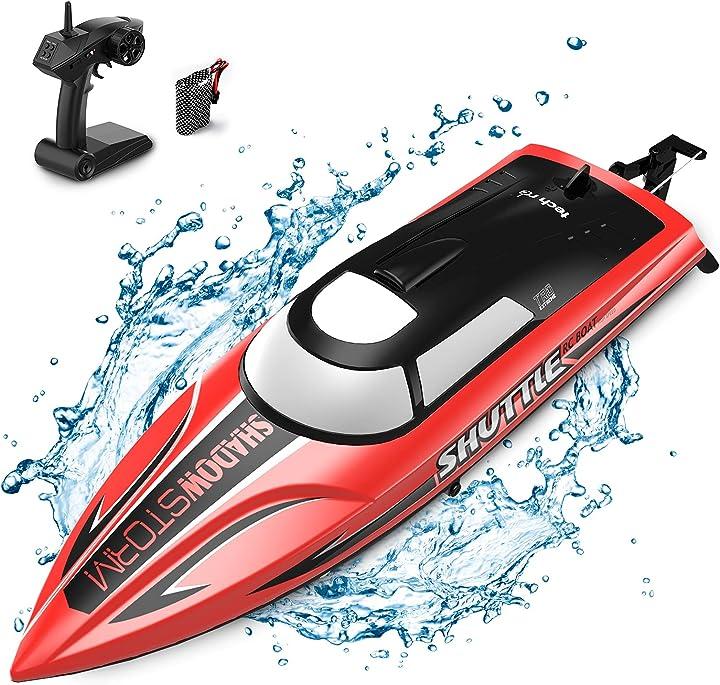 Barca telecomandata impermeabile 2 4ghz motoscafo giocattolo barca da corsa rc ad alta velocità 25km/h TR-2008
