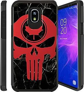 Untouchble Case for Samsung Galaxy J3 2018, Express Prime 3, Amp Prime 3, J3 Orbit, J3 Achieve, J3 Star, Sol 3 Case [Shock Bumper] 2 Piece Hybrid Case with Smooth Slim Finish - Canada Skull