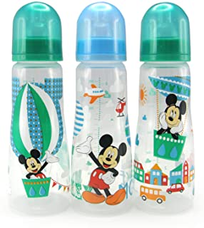 The First Years Disney Baby Mickey Mouse Slim Bottles,8 oz, 3 Pack