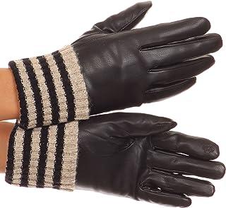 Sakkas Oda Warm Striped Wool Cuff Winter Touch Screen Wrist Length Gloves