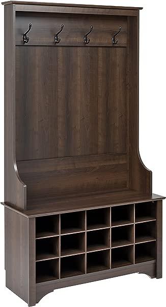 Prepac ESOG 0011 1 Shoe Storage Hall Tree Espresso