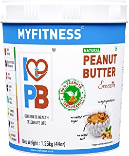 MYFITNESS Natural Peanut Butter Smooth1250g (Unsweetened)