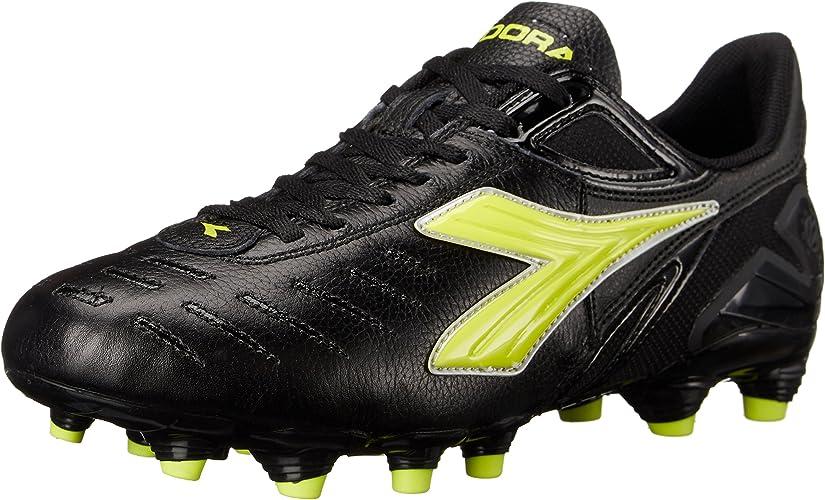 Diadora Wohommes Maracana L W Soccer chaussures, noir jaune, 6 M US