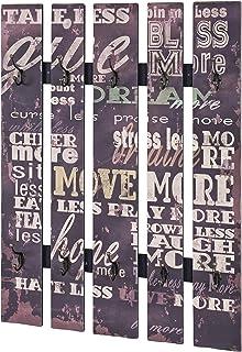 Haku Möbel 89918 Garderobe Murale MDF/Acier Multicolore 70 x 9 x 100 cm