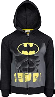 DC Comics Batman Superman Boys Fleece Hoodie with 3D Muscles and Cape