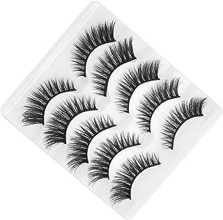 5 Paar 6D Valse Wimpers Handgemaakte Lange Extension Wimpers Pack Herbruikbare Vezel Wimpers voor Dagelijkse Make-up, Dati...