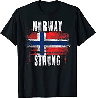 Norway Strong Distressed Flag - Norwegian Pride T-Shirt