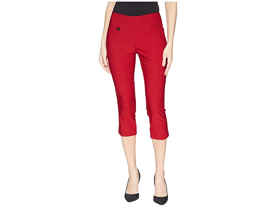 Lisette L Montreal Solid Magical Lycra(r) Capri Pants (Red) Women