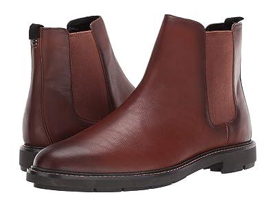 COACH Burnished Leather Chelsea Boot (Burnished Saddle) Men