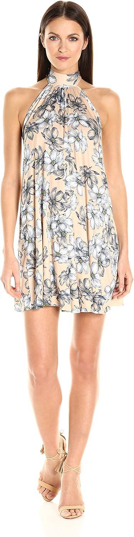 CLAYTON Women's Dori Floral Print Halter Swing Dress
