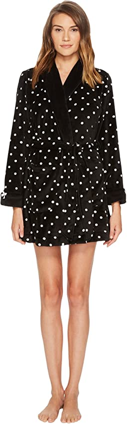 Kate Spade New York - Plush Fleece Graphic Dot Robe