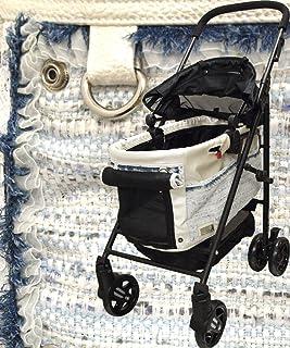 [マザーカート] Mother Cart ラプレ Lサイズ シャーリーン (ブルー) ペットカート ペットキャリー 多頭飼い 旅行 介護 お出かけ 最軽量
