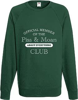 Rutmerch Men's Official Member Of The Piss & Moan Club Funny Sweatshirt