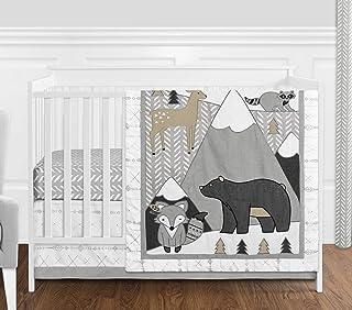 Sweet Jojo Designs Beige, Grey and White Boho Mountain Animal Gray Woodland Forest Friends Baby Unisex Boy or Girl Nursery...