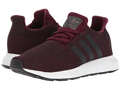 adidas Originals Kids Swift Run J (Big Kid) (Maroon/Black/White) Kids Shoes