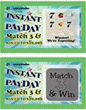 Pregnancy Announcement Scratch-Off Lottery Tickets, New Baby Game, 10 Cards