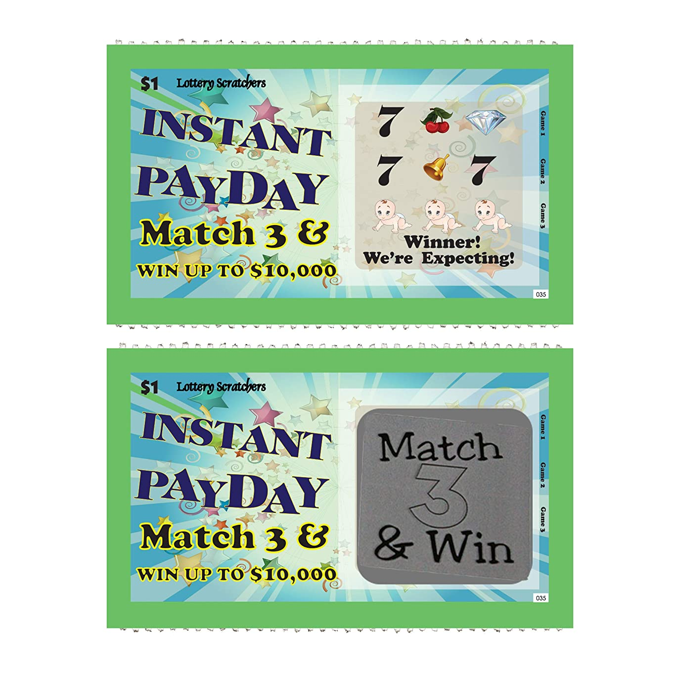 Pregnancy Announcement - Instant Payday Lotto Replica - Scratch Off Card - 5 Pack - My Scratch Offs