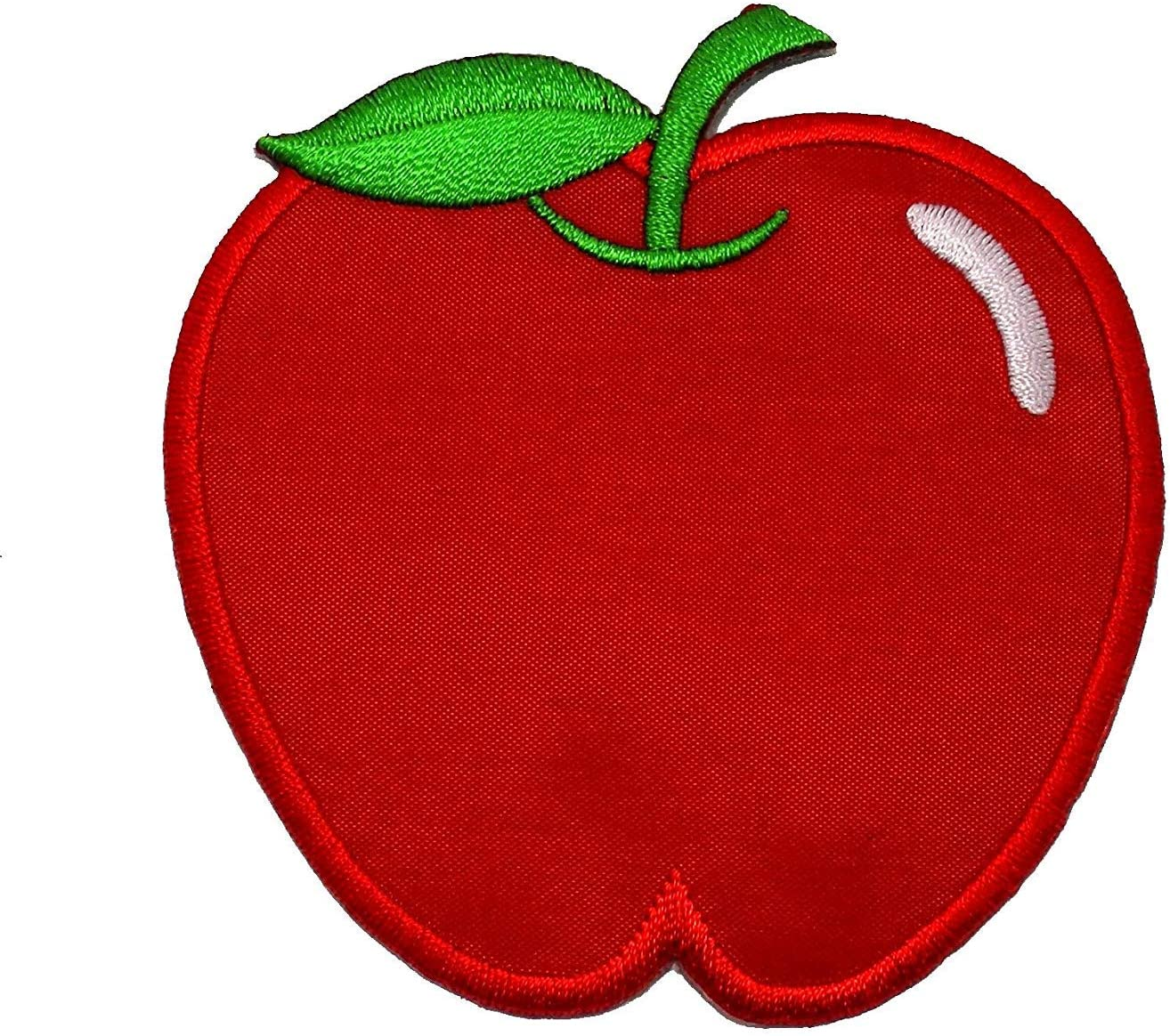 Apple Hand Embroidered Sew-On Patch