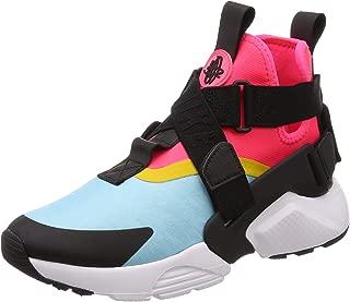 Women's Air Huarache City Low-Top Sneakers, Multicolour (Bleached Aqua/Black-Racer Pink), 6.5 US