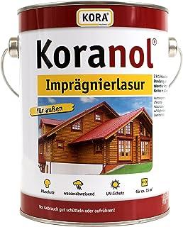 Koranol Imprägnierlasur Aussenlasur Holzschutzlasur Nussbaum 5L
