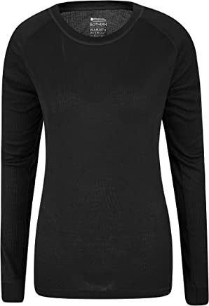 Mountain Warehouse Talus Womens Long Sleeves Baselayer Top - Thermal Underwear, Lightweight Ladies Tee Shirt, Breathable, Easy Care Blouse - for Winter