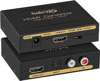 avedio links HDMI 音声分離 4K@30Hz HDMI 音声分離器 光デジタル オーディオ アナログ出力 サウンド分離器 SPDIF + RCA白赤 L/R 音声出力 HDMI 音声分配器 デジタルオーディオ分離器 PS3 PS...