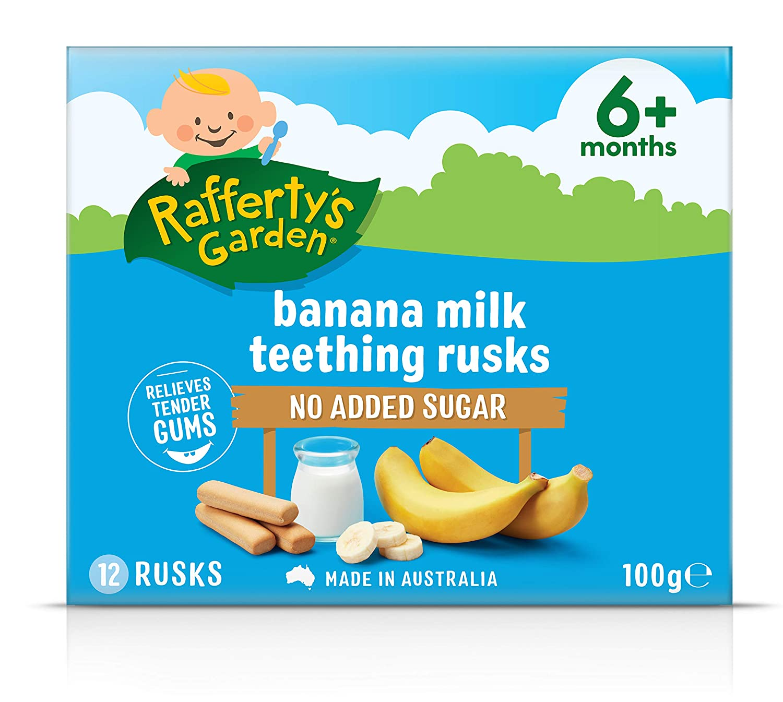 Rafferty's Ranking TOP3 Garden Banana Milk Teething Store Rusks 100g
