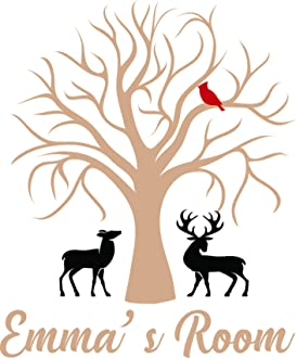 Trees Color Design with Vinyl Moti 2402 3 Decal Black Size 20 Inches x 40 Inches Peel /& Stick Wall Sticker