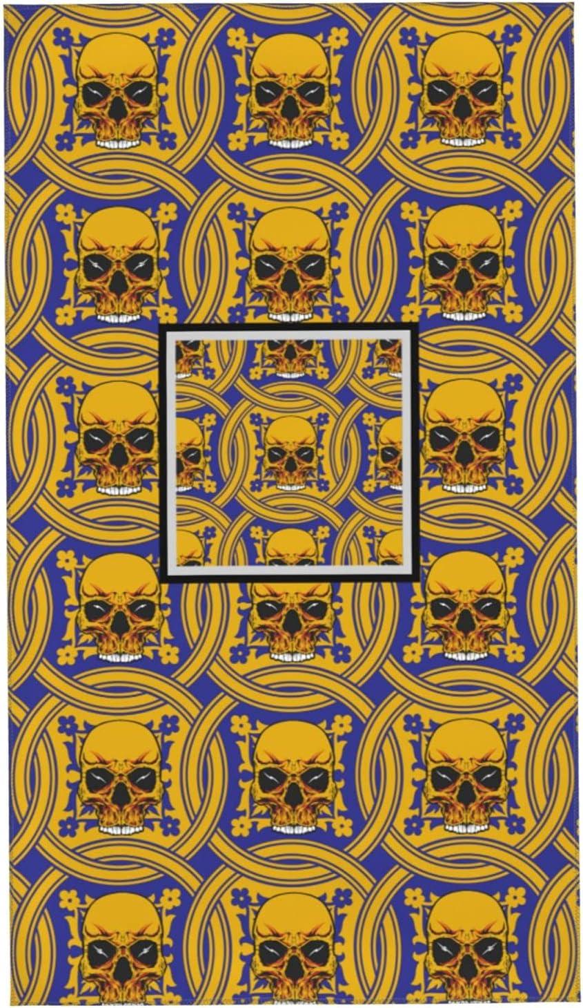Halloween Golden Skull Towel Comfo Max 64% OFF Bath Skin-Friendly Soft Arlington Mall